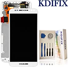 KDIFIX for Motorola Moto X Pure Edition XT1575 LCD Touch Screen Assembly + Frame with Full Professional Repair Tools kit (White+Frame)