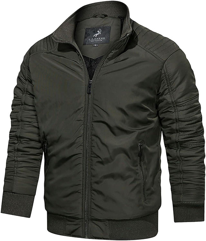 New Shipping Free Shipping Huangse Men's Brand Cheap Sale Venue Plus Size Winter Cargo Jacket Zipper Multi-Pocket