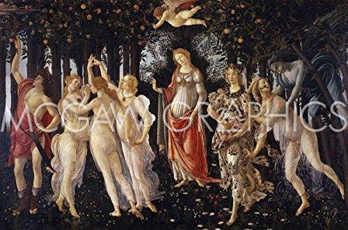 """Bruce McGaw Graphics La Primavera, 1481-1482 by Sandro Botticelli, Art Print Poster 14"""" x 11"""""""