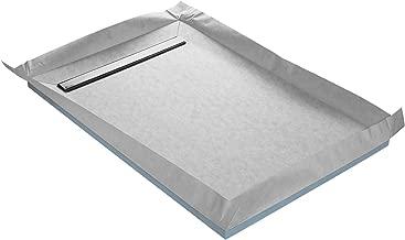 STEIGNER Receveur de Douche Mineral PLUS Drain Central Drain Vertical Plaque en EPS 90x90 cm