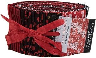 Fire & Ice Batiks Jelly Roll 40 2.5-inch Strips Moda Fabrics 4350JR