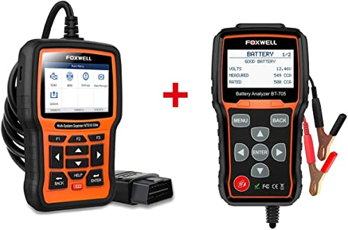 2021 FOXWELL Car high quality Professional Diagnostic Tool Set(12v Battery Load Tester BT705 + Car 2021 Scanner for BMW NT510 Elite) online