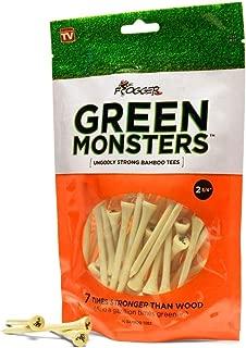 Frogger Golf Green Monsters 100% Bamboo Golf Tees, (2 3/4