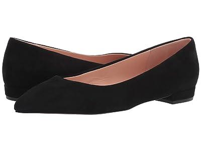 J.Crew Pointy Toe Flat in Suede (Black) Women