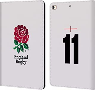 Official England Rugby Union Position 11 2016/17 Home Kit Leather Book Wallet Case Cover Compatible for iPad Mini (2019)