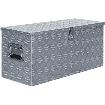 vidaXL Caja de Aluminio 90,5x35x40 cm Plateada Herramientas Taller Bricolaje: Amazon.es: Bricolaje y herramientas
