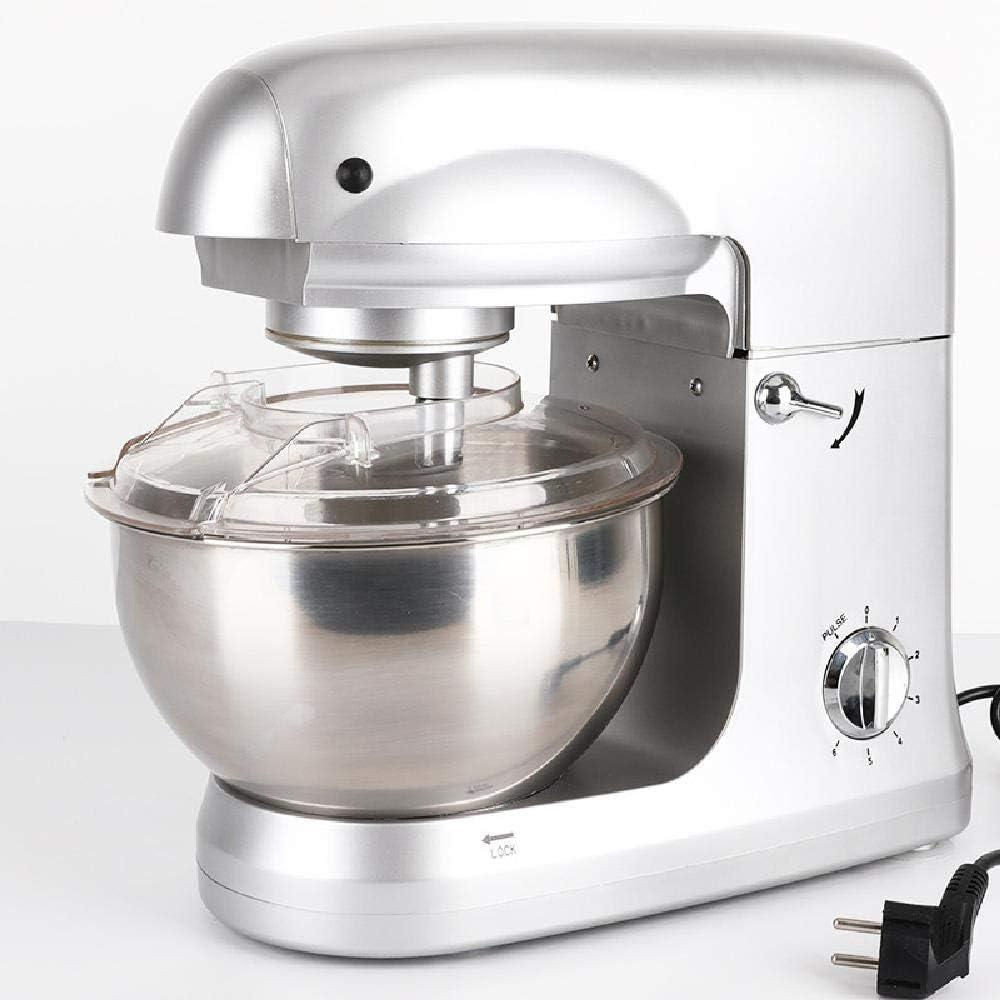 GWZZ Multifonction Chef de la Machine, Mixer ménage, Régulation de Vitesse 6 Vitesses, pâte Mixer, Machine de Cuisson Egg,Red Red