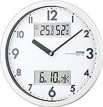 MAG(マグ) 掛け時計 非電波 アナログ ダブルメジャー 直径28cm 連続秒針 温度 湿度 カレンダー表示 ホワイト W-631WH