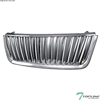 Topline Autopart Chrome Vertical Badgeless Front Hood Bumper Grill Grille For 03-06 Ford Expedition