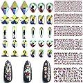 2030 Pieces 3D Crystal AB Color Flat Back Rhinestones Nail Art DIY Crafts Gemstones with Nail Art Gem Stones
