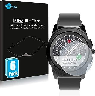 Savvies 6x Schermbeschermer compatibel met MyKronoz ZeTime Regular (44 mm) Screenprotector ultra transparant