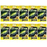 Clip On! Fishing Glow Sticks For Pole 20 Pcs(10 Packs) M L XL Green Fluorescent Light Stick Dry Type...
