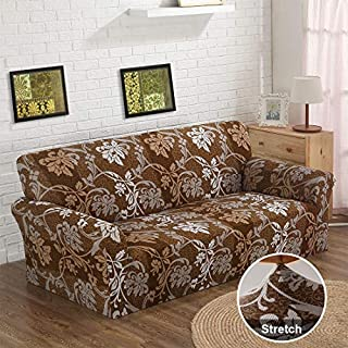 JQinHome Sofa Cover High Stretch Couch Lounge Covers for 3 Cushion Couch, Polyester Spandex Sofa Slipcover Furniture Protector for Dogs, Includes 2 Free Cushion Cases - Sofa(3 Seater, 77-91 Inch)