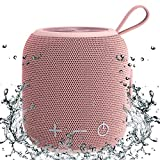 Portable Bluetooth Speaker,SANAG Mini Bluetooth 5.0 Dual Pairing Wireless Speaker, 24H Playtime, Stereo Sound, IPX67 Waterproof for Travel, Outdoors, Home and Party(Pink)