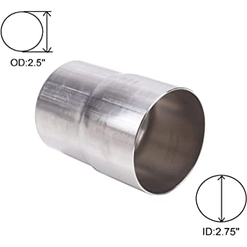 Stainless Steel Flared End Exhaust Reducer Connector Pipe Joiner Repair Tube