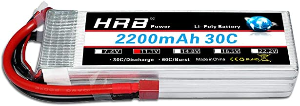 HRB 11.1V 2200mAh 3S 30C Lipo Battery with Deans Plug for RC Car Boat Truck Heli Airplane Quadcopter Helicopter Multi-Motor Hobby DIY Parts