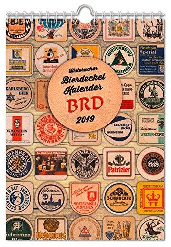 Historischer Bierdeckelkalender BRD 2019 (Bierdeckel- und Bieretikettenkalender / DDR/BRD)