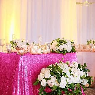 hot pink dessert table