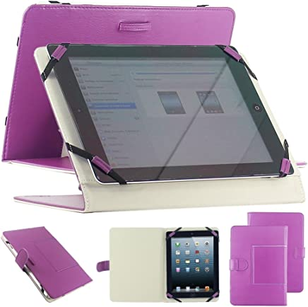 """Housse universel support etui couleur violet simi cuir pour tablette PC 10"""" 10.1"""" 10.2"""" style traditionnel modele ex. Android Tablet PC Tab Epad Apad, MID pad, SuperPad, Samsung Galaxy Tab 10.1 P7500 P7510, Tab 2 10.1"""" P5100 P5110, Galaxy Note 10.1 N8000,"""