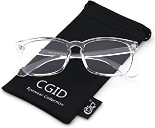 a3d523573a4 Happy Store CN82 Large Oversized Bold Frame UV 400 Clear Lens Horn Rimmed  Glasses