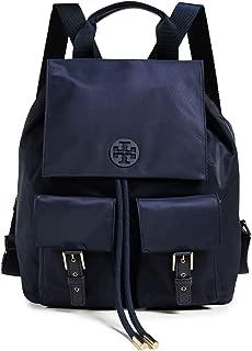 Tory Burch Tilda Medium Nylon Backpack - Tory Navy/Gold