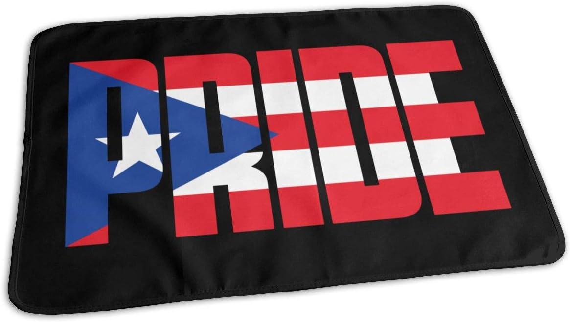 Colorado Springs Mall UAJAR Puerto Max 89% OFF Rico Pride Baby Reusable Pad Cover Changing Portabl