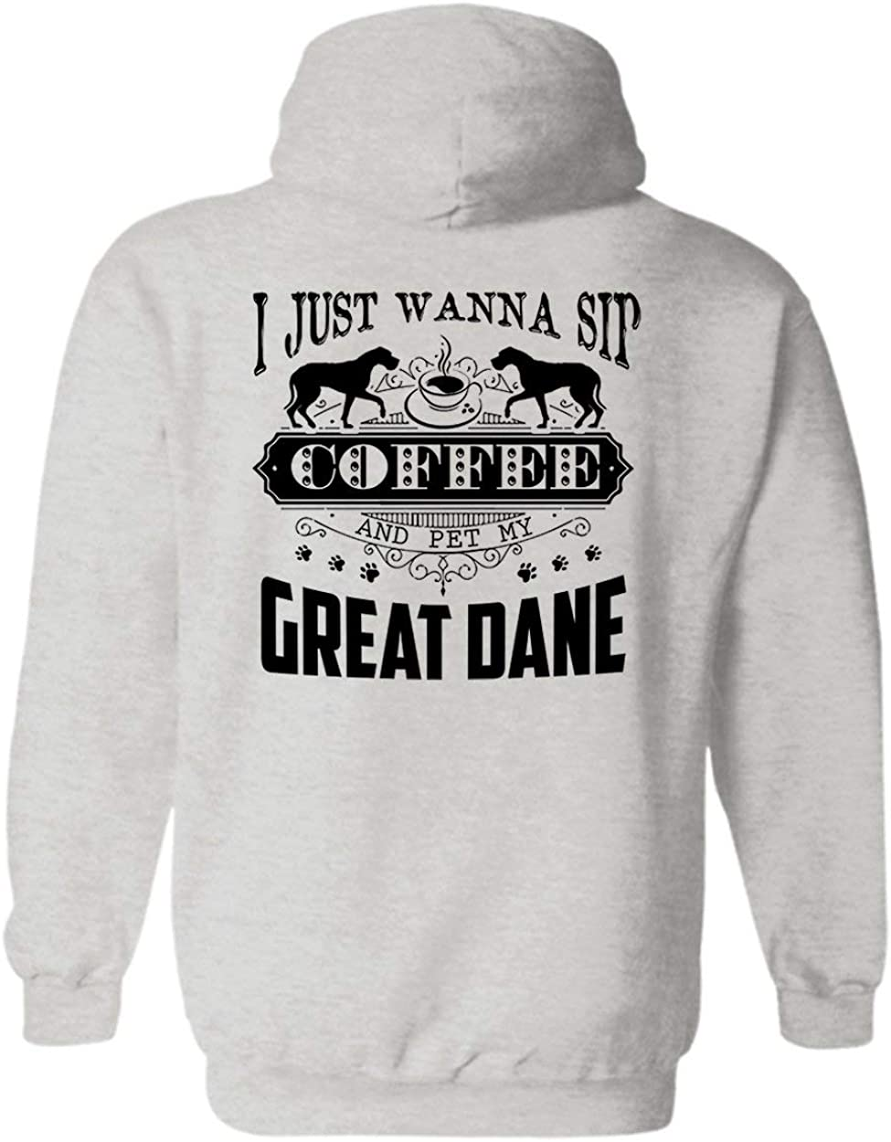 Sunny Yellow Sip Coffee Pet My Long Our shop most popular Ho Dane Max 80% OFF Hoodie Sleeve Great