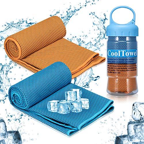 iTrunk Kühltuch, Super Absorbierendes Schweißtuch für sofortige Kühlung, Eiskaltes Sporthandtuch für Yoga Reisen Klettern Golf & Outdoor Sport