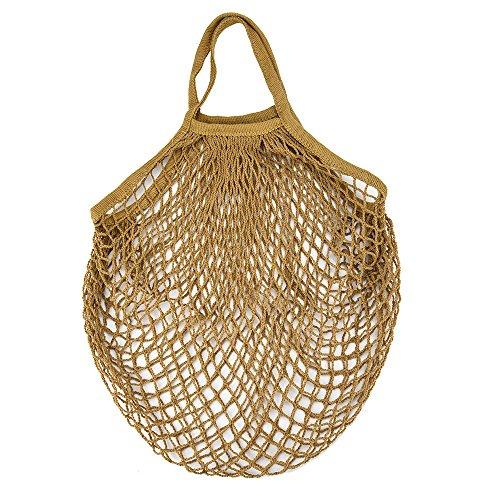 Rameng Mesh Filet Sac à Provisions Sac à Main Réutilisable Sac en Filet de Ficelle de Coton pour Achats (C)
