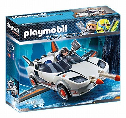 Playmobil- Top Agents Giocattolo Veicolo Spia con Agente, Multicolore, 9252