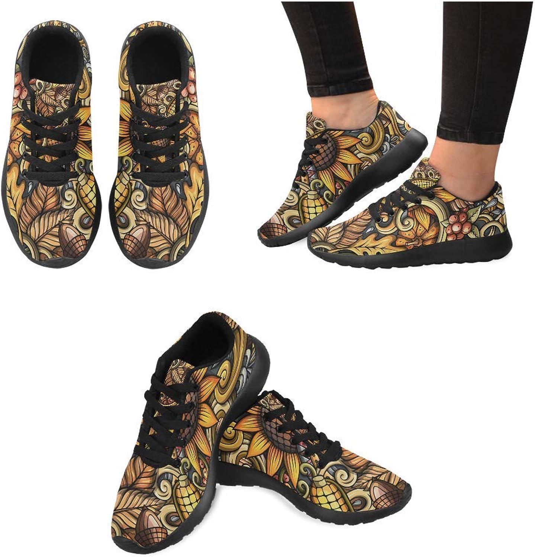 Women Lightweight Casual Sneaker Running shoes Corn Sunflower Prints