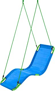 HearthSong Hanging Lounge Chair Kids Hammock Tree Swing Soft Sturdy Weather-Resistant Holds 200 lbs Ages 4 and up…