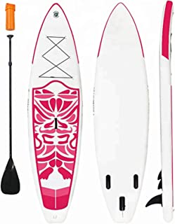 Inflatable Stand Up Paddle Board Surfboard Ultra-Light (240 * 76 * 10Cm) SUP with Adj Paddle, ISUP Backpack, Pump, Leash f...