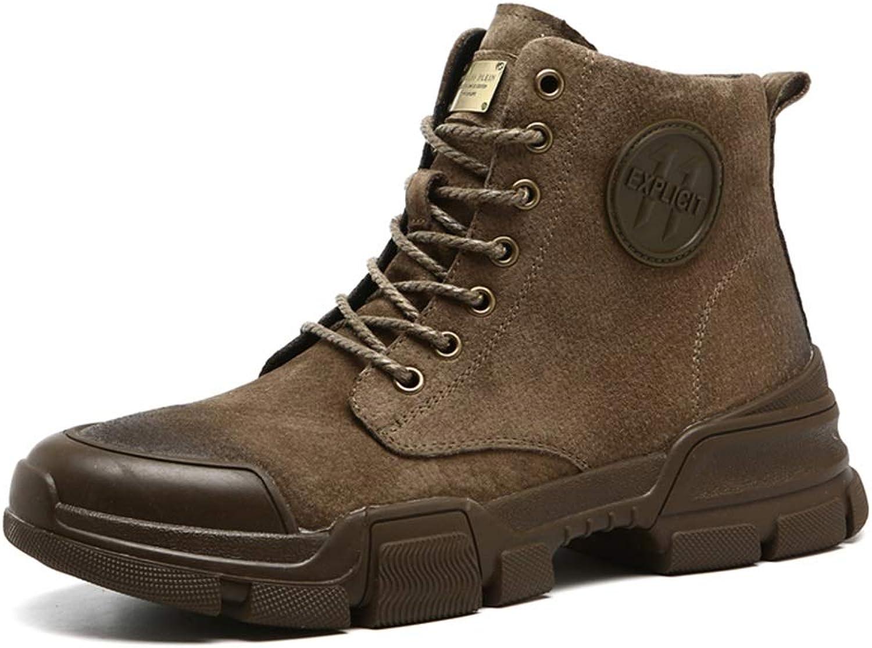 QIDI Martin Boots Outdoor Snow Desert Movement Men's Boots (color   T-1, Size   US8 EU39 UK6)