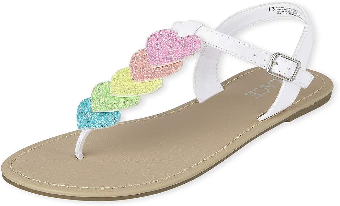 The Children's Place Unisex-Child Heart Sandals Slipper