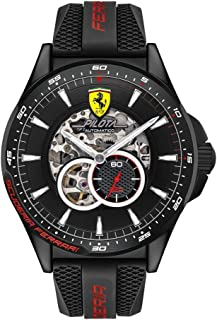 Scuderia Ferrari MEN'S BLACK DIAL BLACK SILICONE WATCH - 830600