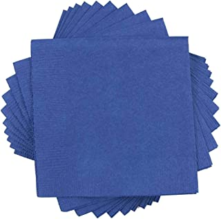 JAM PAPER Small Beverage Napkins - 5 x 5 - Blue - 50/Pack