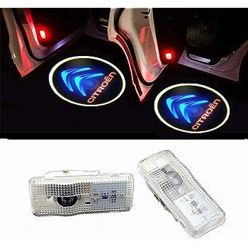 HUAYIN 2 Pi/èces Voiture Porte LED Logo Porte /Éclairage Dentr/ée Lumi/ère Projection Lumi/ère