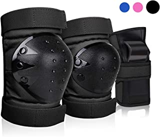 DEKINMAX Knee Pads for Kids & Adult/Youth Protective Gear Set, Knee Pads Elbow Pads with Wrist Guards 3 in 1 for Biking, Skating, and Rollerblading Scooter