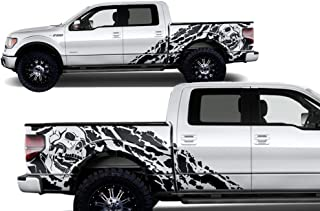 Factory Crafts Nightmare Side Graphics Kit 3M Vinyl Decal Wrap Compatible with Ford F-150 SuperCrew 5.5 Bed 2009-2014 - Matte Black