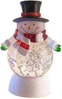 Transpac Imports Merry Snowman LED Light-up 7 x 3.5 Acrylic Christmas Water Globe Figurine