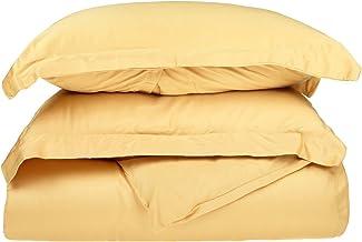 Superior 100% Premium Combed Cotton, 300 Thread Count 3 Piece Duvet Cover Set with 2 Pillow Shams, Single Ply Cotton, Soft...