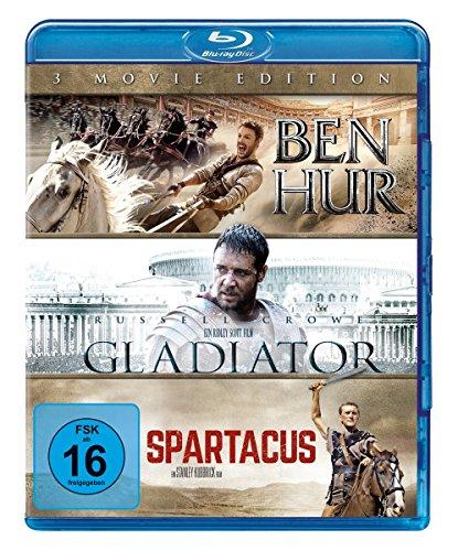 Ben Hur / Gladiator / Spartacus [Alemania] [Blu-ray]