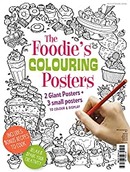 foodies colouring posters for adult colorists