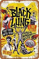ブラックズンウォールメタルポスターレトロプラーク警告ブリキサインヴィンテージ鉄絵画装飾バーゲームルームクラブのための面白いハンギングクラフト