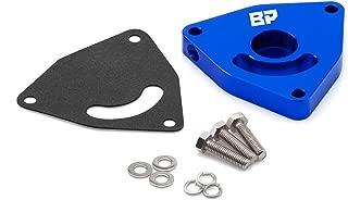 BlackPath - Fits Dodge + Hyundai + Chrysler Blow Off Valve For Neon SRT4 + PT Cruiser + Caliber SRT4 + Genesis Block-Off Diverter Valve Plate (Blue) T6 Aluminum