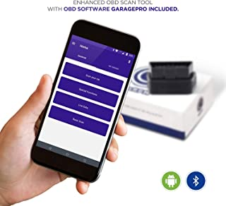 CaRPM Bluetooth OBD Scan Tool & App- Engine, ABS, Airbag, EPS, BCM and other enhanced diagnostics. Read & Erase fault codes from all modules, I/M readiness, Live Data. Supports all 1996+ cars. Android