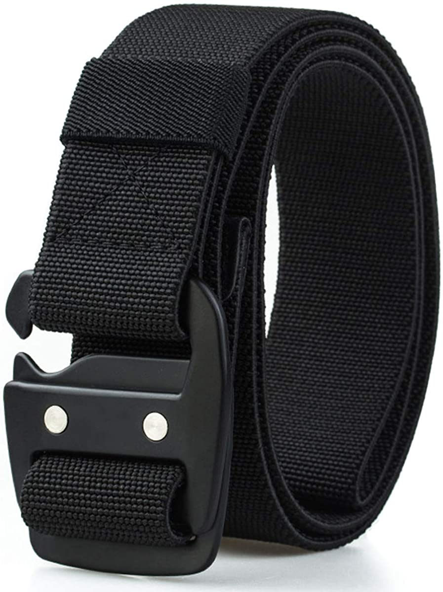 WYuZe Mens Tactical Belt Military Elastic Stretch Duty Riggers Belt Metal Buckle