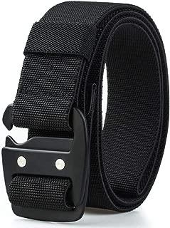 Mens Tactical Belt Military Elastic Stretch Duty Riggers Belt Metal Buckle