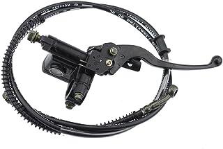 GOOFIT 22mm Bremshebel Griff mit Kabel für Hydraulische Bremse Hauptbremszylinder für 50cc 70cc 90cc 110cc 125cc 150cc Chinesisch ATV Quad